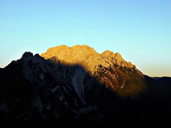 Tramonto su Tudaio, Crissin e Pupera Valgrande da Soramizoi