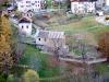 Il mulino Calligaro inserito nella cornice degli altri opifici idraulici: la centralina di Loo Baldovin ed il mulino Del Favero