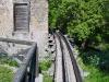 Le canalizzazioni della roggia in uscita dal mulino Del Favero.