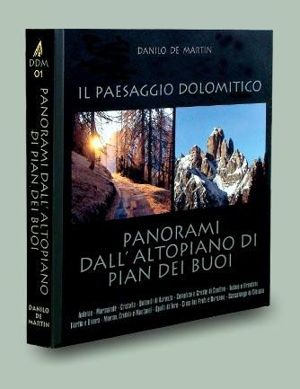 copertina libro Panorami da Pian dei Buoi - Collana Paesaggio dolomitico