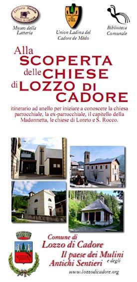 copertina pieghevole alla scoperta delle chiese di Lozzo di Cadore