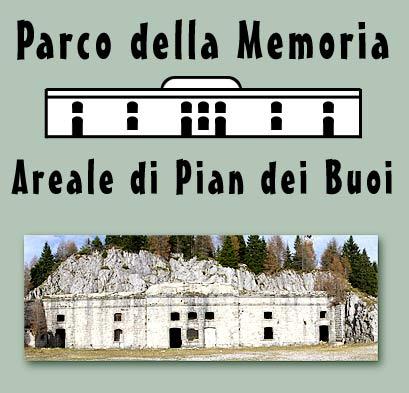logo del Parco della Memoria di Pian dei Buoi a Lozzo di Cadore