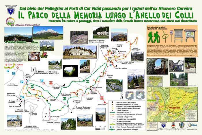 pannello informativo località bivio Pellegrini: parco della memoria di Pian dei Buoi