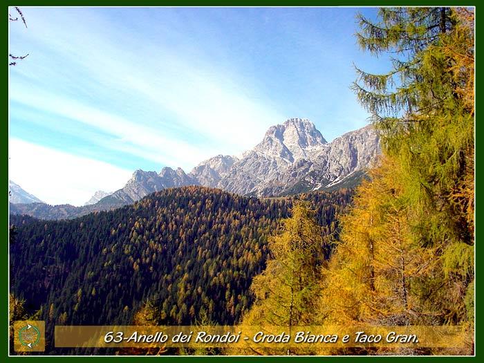foto: Cresta d'Aieron, Croda Bianca e TAco Gran dall'Anello dei Rondoi