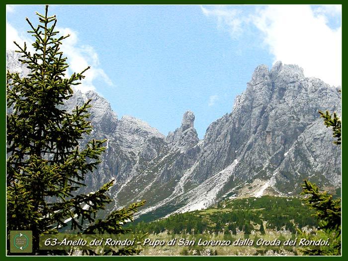 foto: la torre del Pupo di S. Lorenzo tra il Ciastelin ed il Ciarìdo a Pian dei Buoi