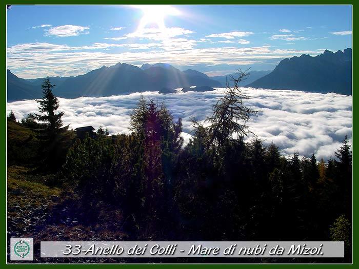foto: mare di nubi da Mizoi lungo l'Anello dei Colli a Pian dei Buoi