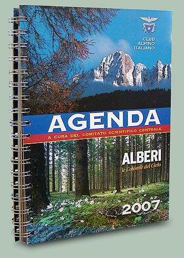 copertina agenda cai 2007: alberi colonne del cielo