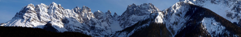 panorama dal Miaron al Col de la Cros passando per il Cridola (16 marzo 2016)