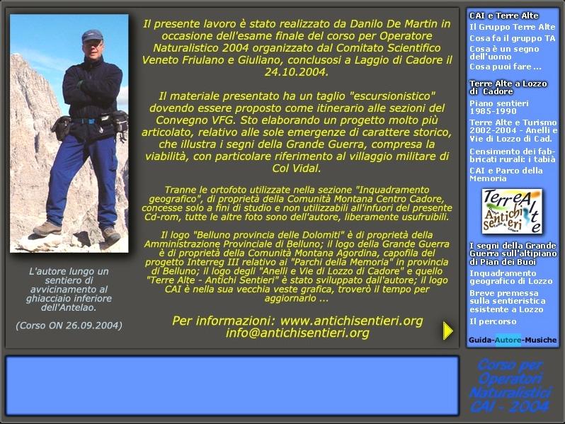 """pagina di presentazione della pubblicazione: """"I segni della Grande Guerra sull'altipiano di Pian dei Buoi"""""""