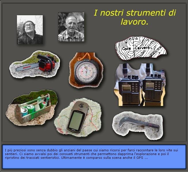 Piano sentieri 1985 - 1990: i nostri strumenti di lavoro...