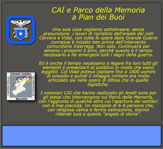 CAI e Parco della memoria a Pian dei Buoi (2)