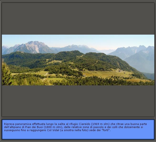 Inquadramento geografico di Lozzo di Cadore: panoramica dell'altopiano di Pian dei Buoi