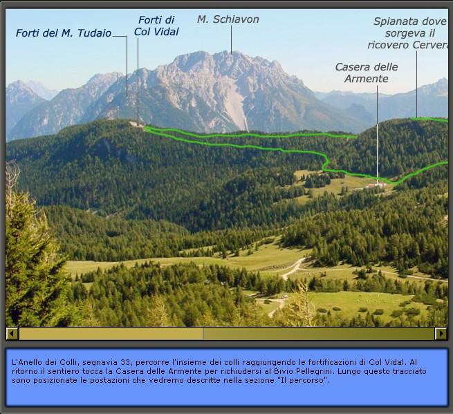 Inquadramento geografico di Lozzo di Cadore: panoramica dell'altopiano di Pian dei Buoi con Anello dei Colli