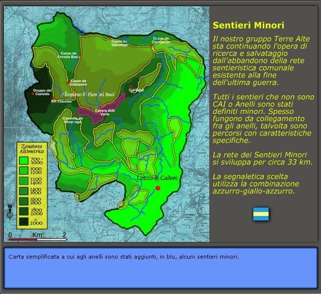 la sentieristica esistente a Lozzo di Cadore: Sentieri minori