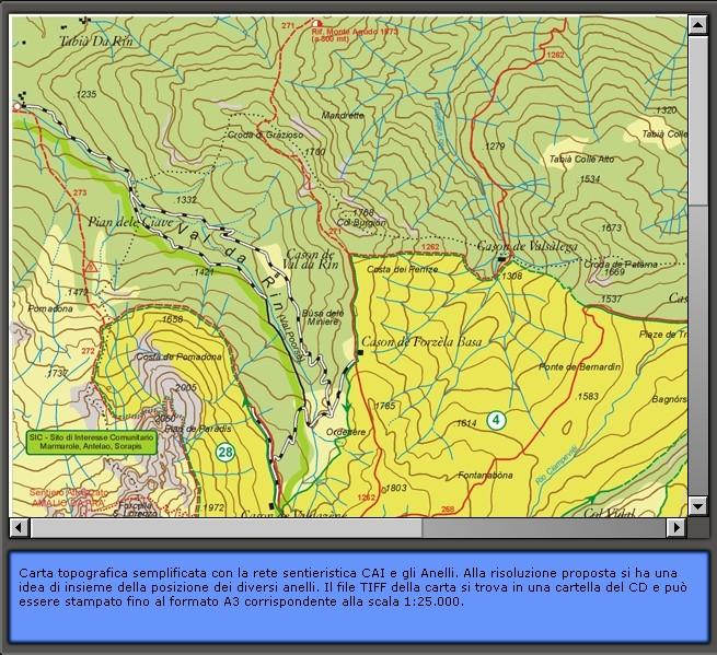 la sentieristica esistente a Lozzo di Cadore: Carta dei Sentieri di Lozzo di Cadore 1:25.000