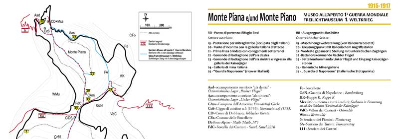 Monte Piana - Panorama 360 - Percorso storico settore austriaco