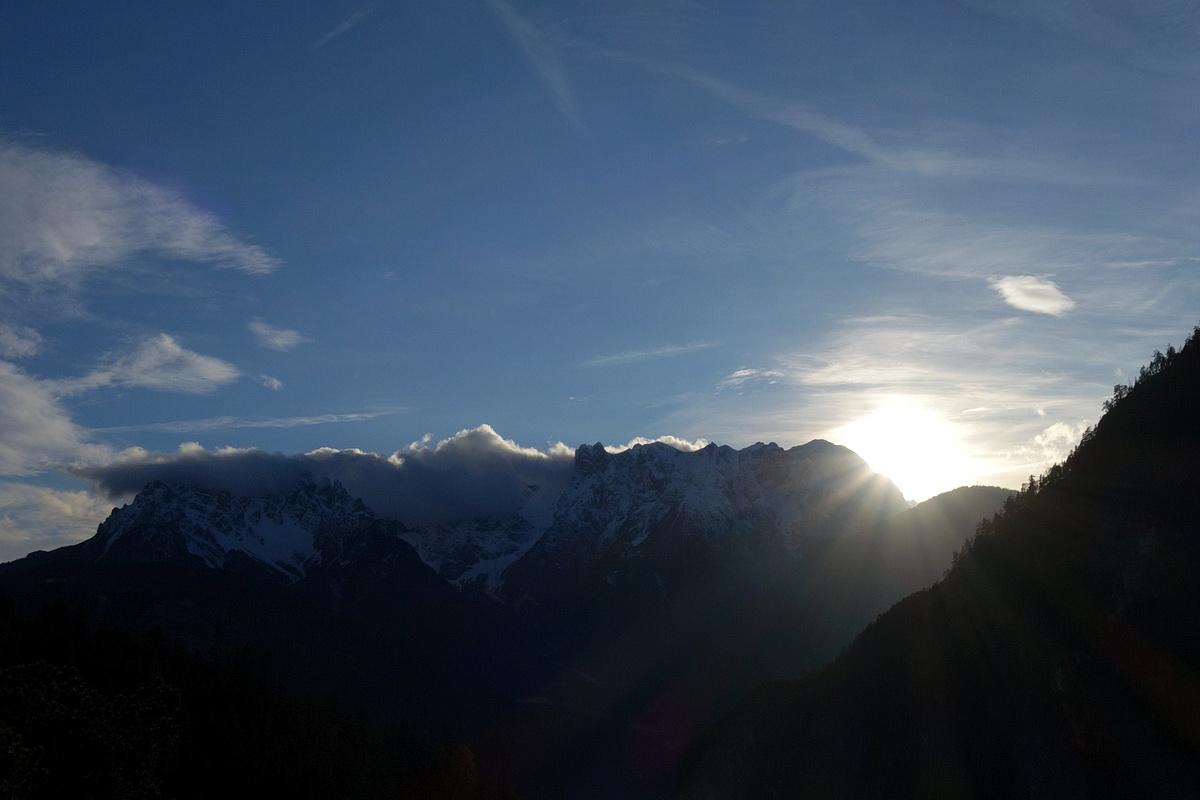 Marmarole da Val Ambata verso il tramonto: dal Ciarido alla Croda di Somprade