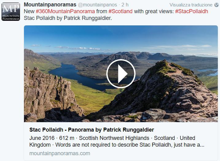 Mountainpanoramas - Scozia: Stac Pollaidh