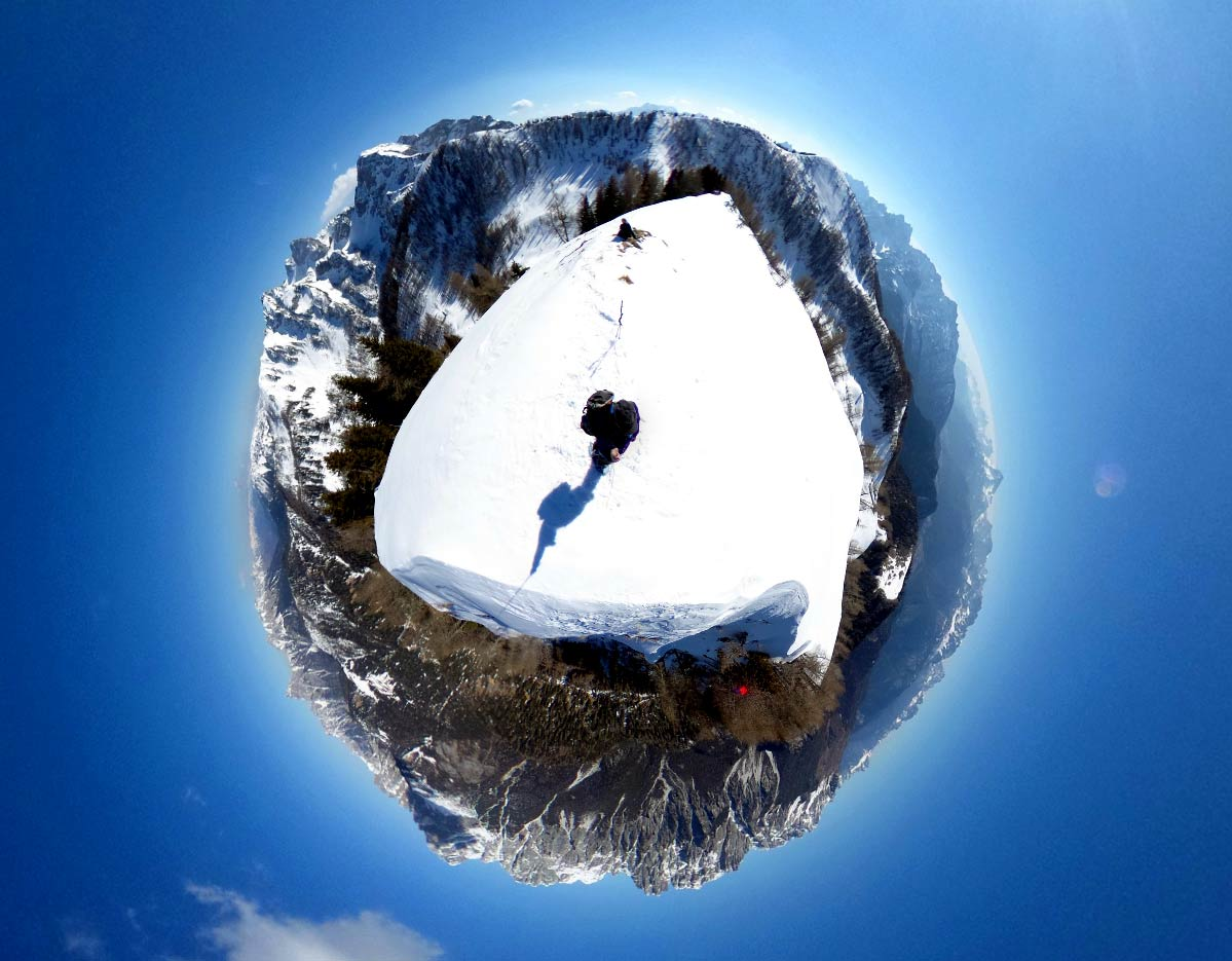 Monte Verna (Malga Doana) in versione tiny planet