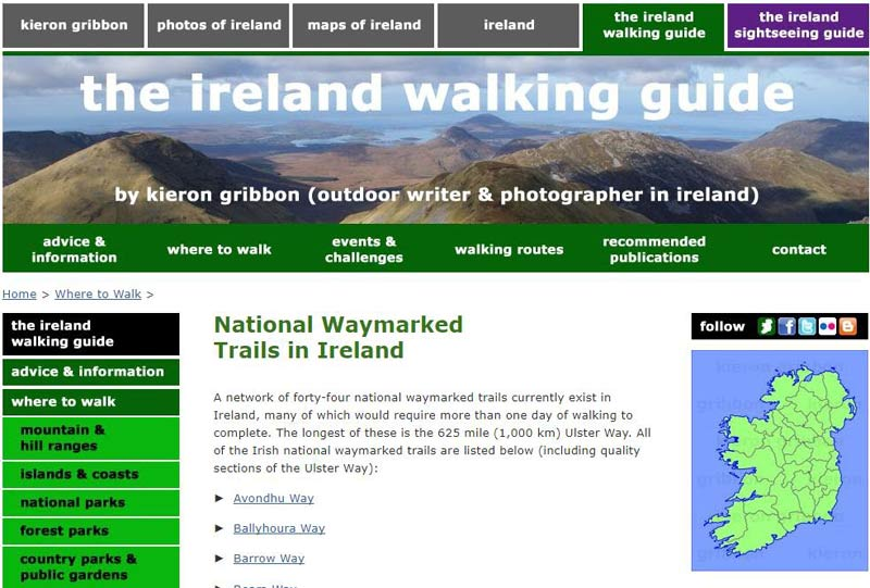 the Ireland walking guide