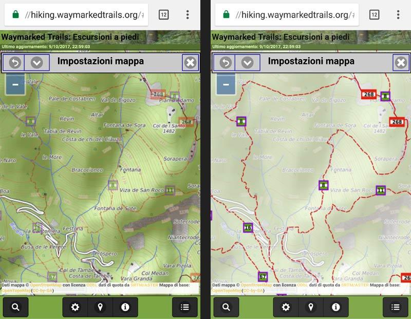 screenshott n.2 waymarkedtrails