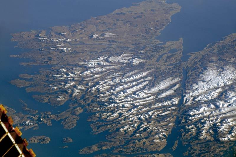 Scottish Highlands catturate dalla ISS, 25 febbraio 2018