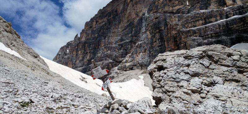 Testata della Val del Marden, sentiero alpino sv. 106