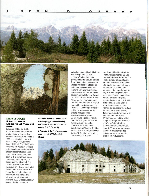 Articolo sul Parco della Memoria di Pian dei Buoi a firma di Ugo Mattana apparso sul numero luglio-agosto 2005 della RIvista del CAI (p. 2#4)