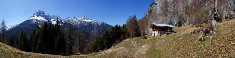 Panorama dai piedi del Sass Croera