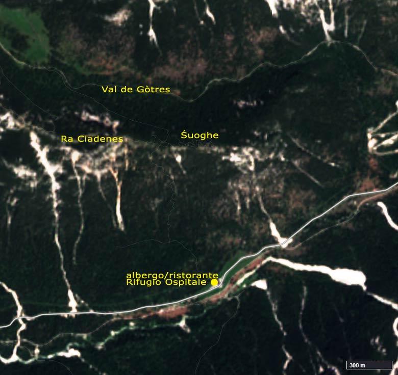EO Browser 28-06-2019 true color; area dei Śuoghe (Ospitale - Cortina d'Ampezzo) prima dell'incendio