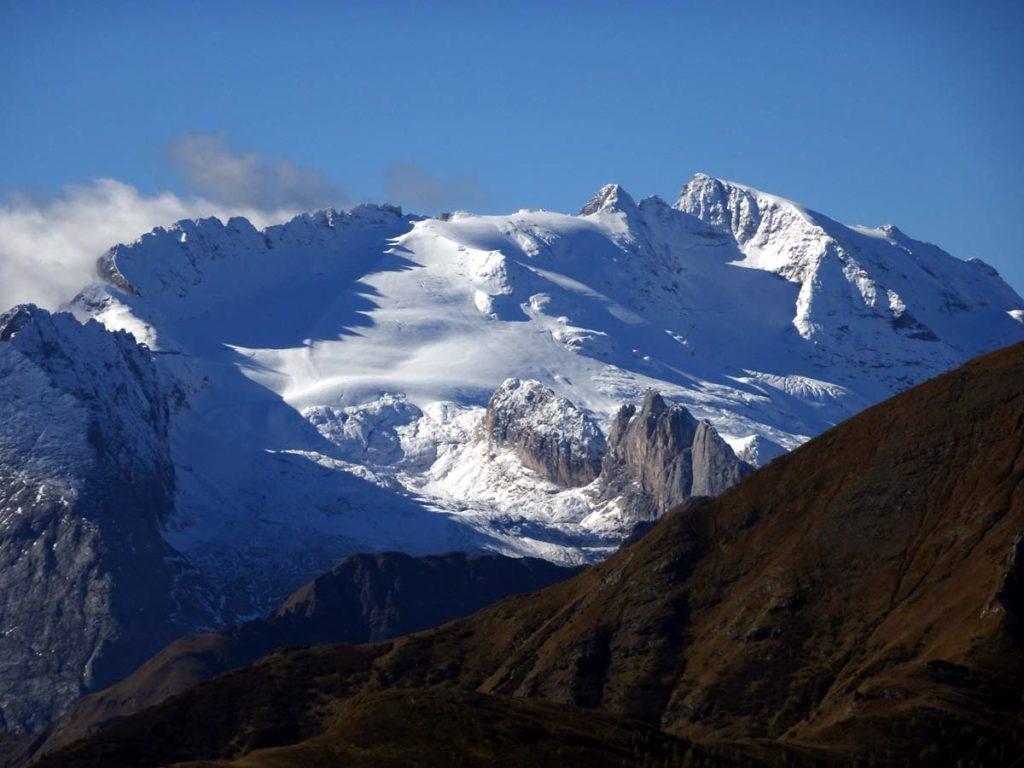 Marmolada dai pressi del Passo Falzarego, dalla base di P. Ferrino del Piccolo Lagazzuoi