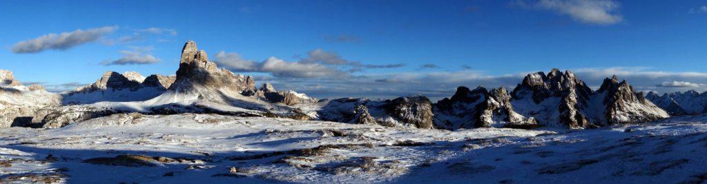 Panoramica dalla Torre di Toblin a Punta Col de Varda dal Monte Piana