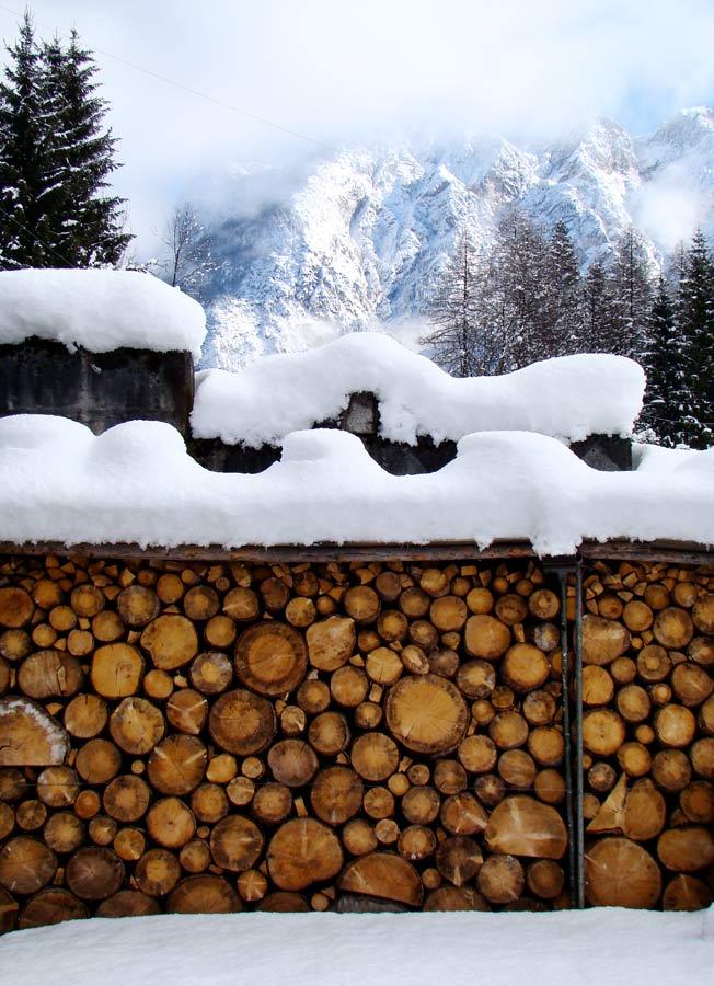 Legna e neve...