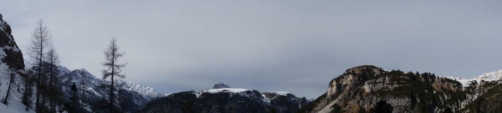Panoramica dal gruppo del Cristallo al Monte de Fora passando per Monte Piana