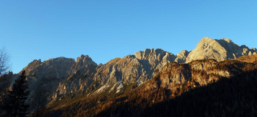 Tramonto su Pupera Valgrande, Cresta dei Castellati e M. Brentoni