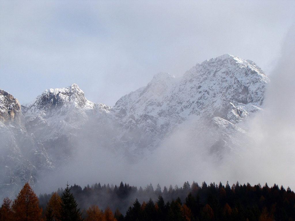 Cima dei Landre, Forcella Sora Gravon e Crissin dopo una spruzzata di neve settembrina