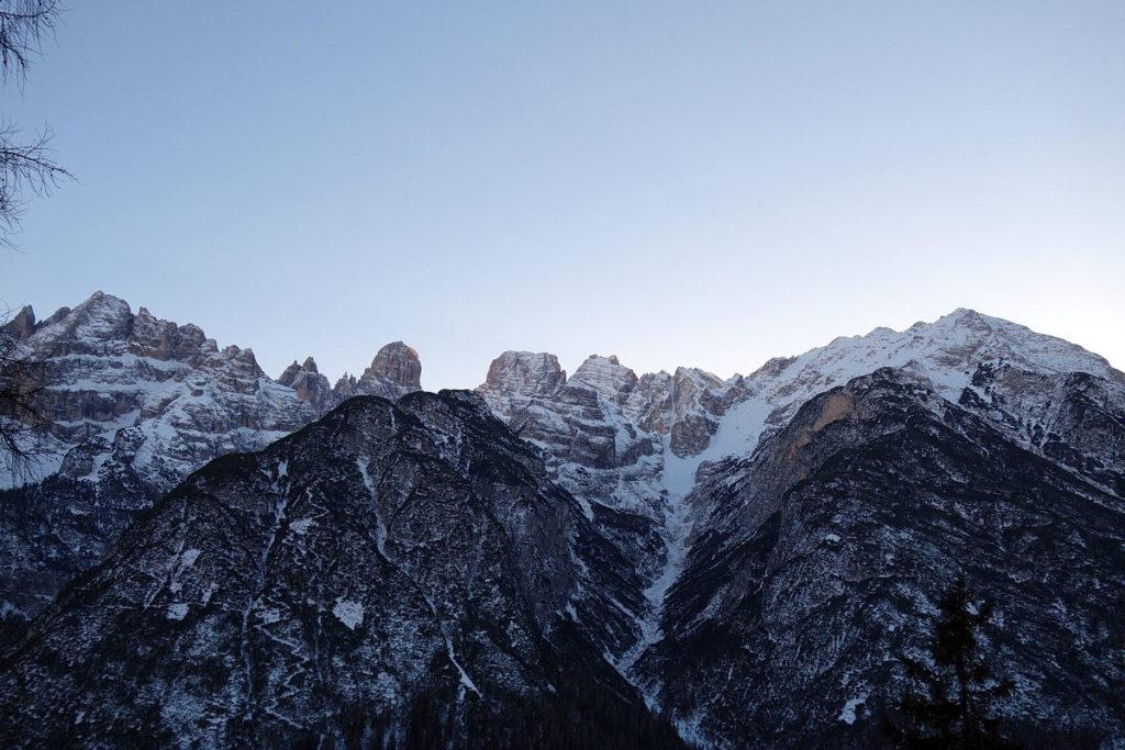 Gruppo del Cristallo con Monte Fumo e Valle della Fontana di Sigismondo
