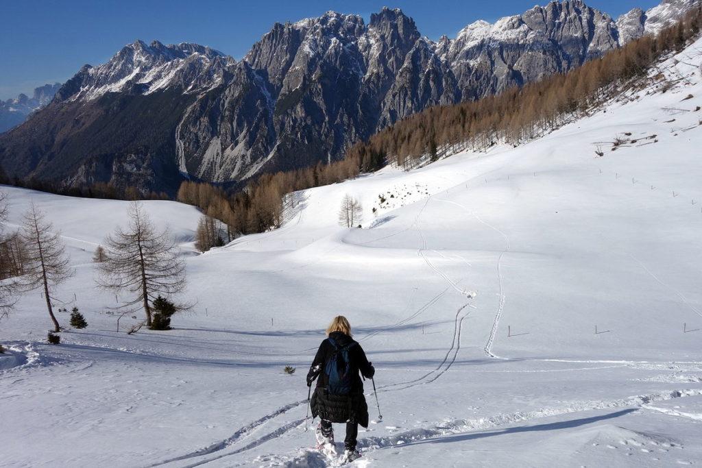 In discesa dal M. Verna verso Crissin, Pupera Valgrande e Cresta dei Castellati