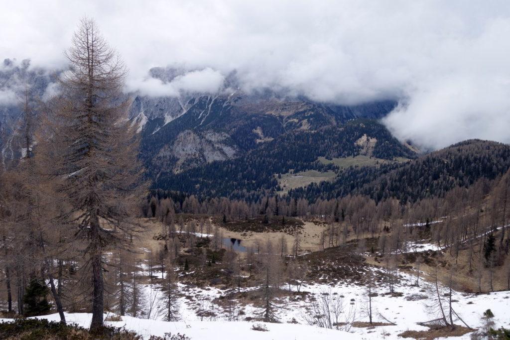 Pian del Laguscel con Col Rementera, M. Losco, Col Sarenede e Crepo Val da Rin