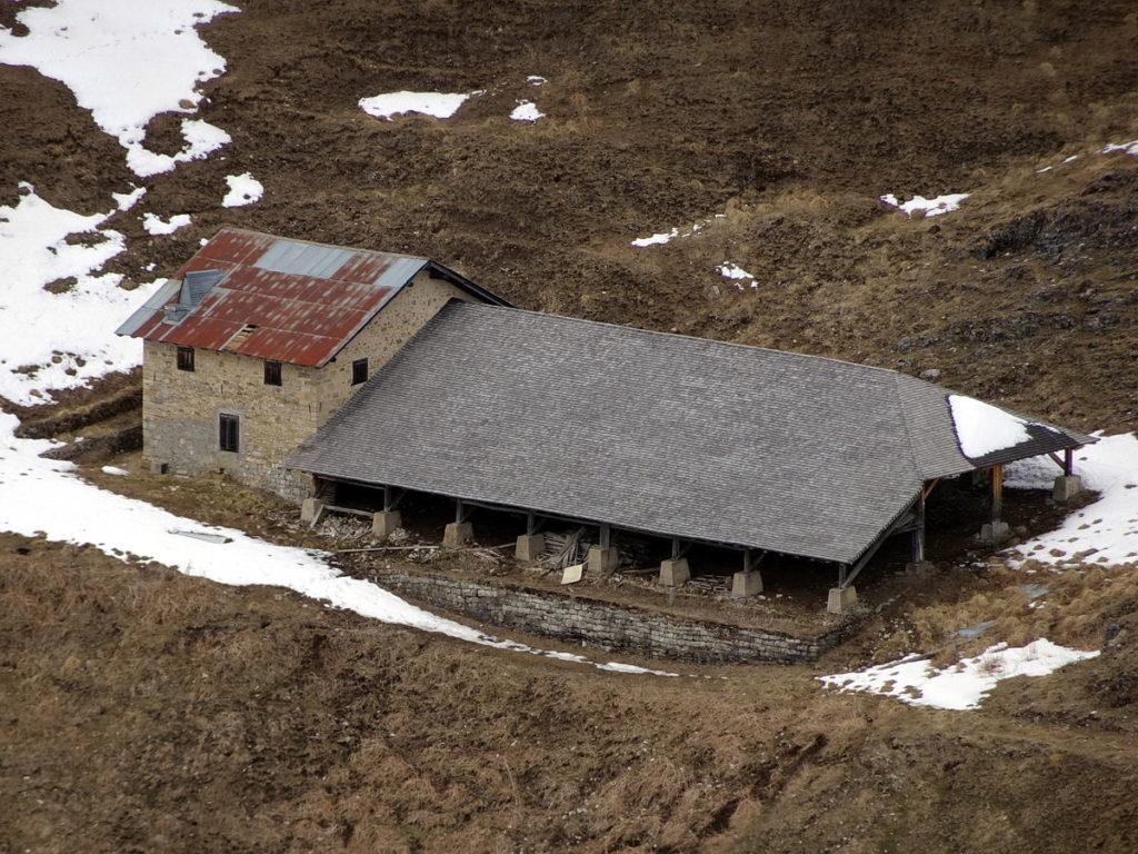 Casera delle Fede a Doana dal Col Rosolo